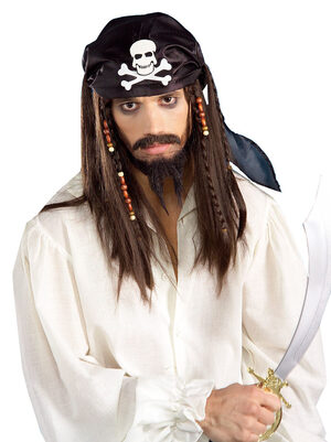 Adult Caribbean Pirate Wig with Beads
