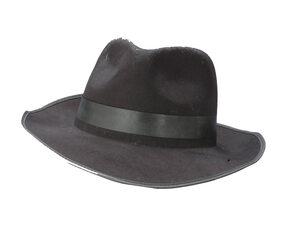 Adult Black Flocked Gangster Hat
