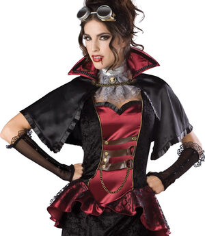 Sexy Elite Steampunk Vampiress Costume