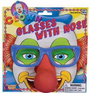 Kids Clown Glasses and Nose Set