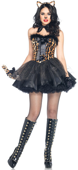 Sexy Luxe Leopard Cat Costume