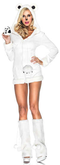 Sexy Snowy Polar Bear Animal Costume