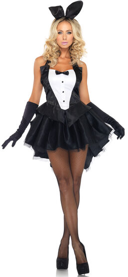 Sexy Womens Tuxedo Tails Bunny Costume