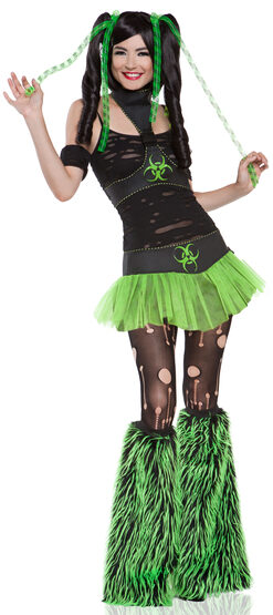 Sexy Green Cyber Gothic Miss Cyanide Costume