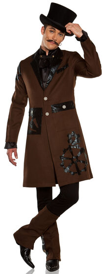 Full Steam Ahead Steampunk Captain Adult Costume