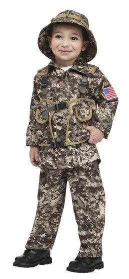 Boys Desert Commando Army Kids Costume