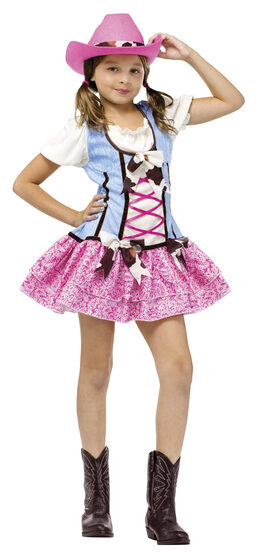 Girls Rodeo Sweetie Cowgirl Kids Costume