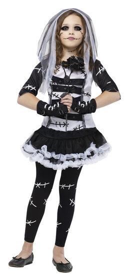 Monster Corpse Bride Kids Costume
