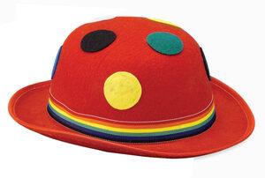 Red Polka Dot Derby Hat