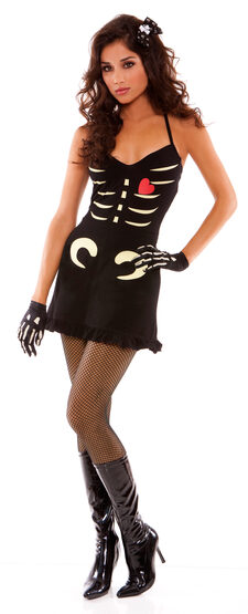 Sexy Dying to Please You Skeleton Costume