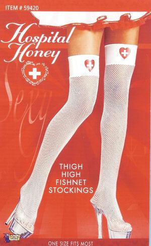 Thigh High Sexy Nurse Fishnet Stockings