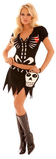 Sexy Chloe Bones Skeleton Costume