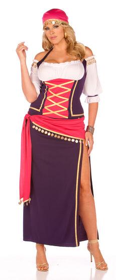 Renaissance Gypsy Maiden Plus Size Costume