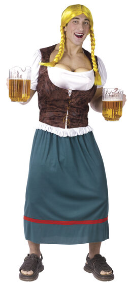 Mens Funny Beer Girl Funny Adult Costume