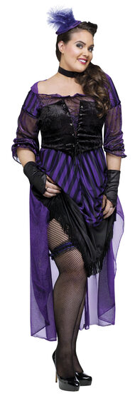 Lady Maverick Western Saloon Girl Plus Size Costume