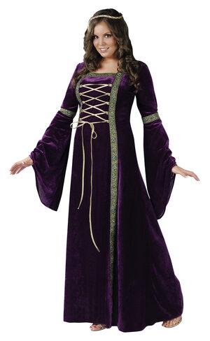 Womens Renaissance Lady Plus Size Costume