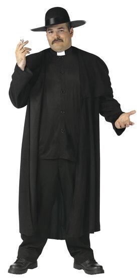 Mens Piazza Priest Plus Size Costume
