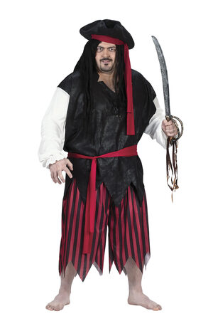Mens Plundering Caribbean Pirate Plus Size Costume