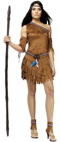 Sexy Pow Wow Pocahontas Indian Costume