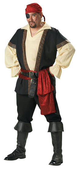 Plus Size Mens Elite Pirate Costume