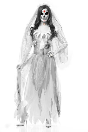 Womens Ghost Bride Adult Costume
