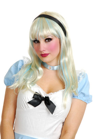 Alice in Wonderland Blue and White Wig