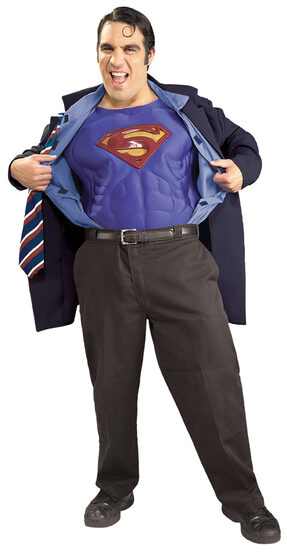 Clark Kent / Superman Muscle Chest Plus Size Costume