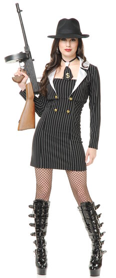 Sexy Miss Mob Boss Gangster Costume