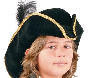 Boys Black Pirate Hat