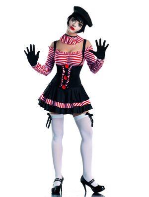 Sexy Circus Mime Costume