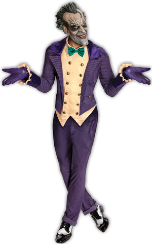 Mens Arkham City Joker Adult Costume