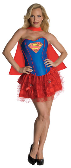 Sexy Supergirl Corset Tutu Costume