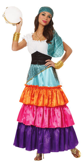 Womens Bohemian Gypsy Adult Costume