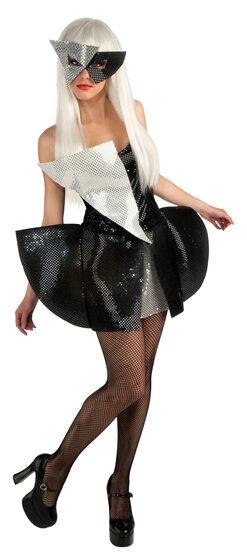 Teen Black and Silver Lady Gaga Teen Costume