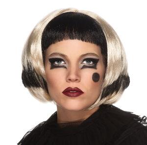 Lady Gaga Black and Blonde Wig