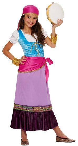 Girls Gypsy Traveler Kids Costume