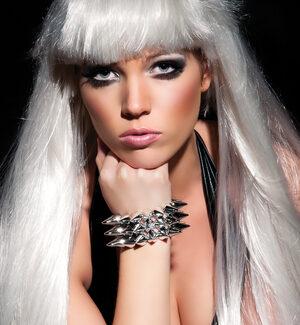 Lady Gaga Silver Spiked Bracelet