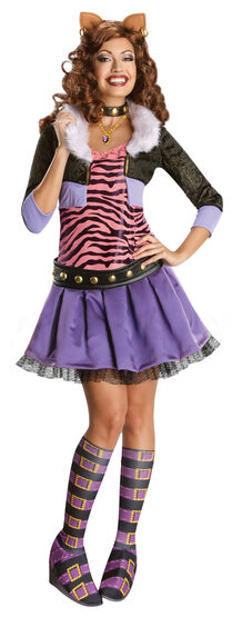 Deluxe Clawdeen Wolf Monster High Adult Costume