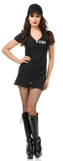 Sexy CSI Cop Dress Costume