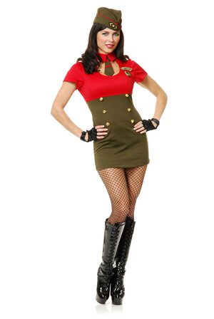 Sexy WWII Army Babe Costume