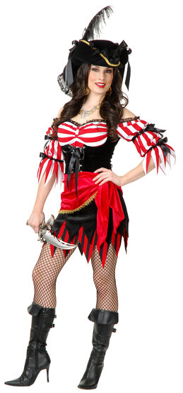 Sexy Black Beard Pirate Beauty Costume