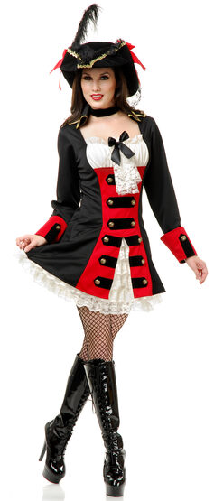 Sexy British Pirate Lady Costume