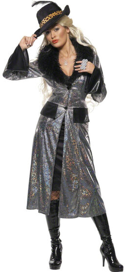 Female Pimp Coat Adult Costume