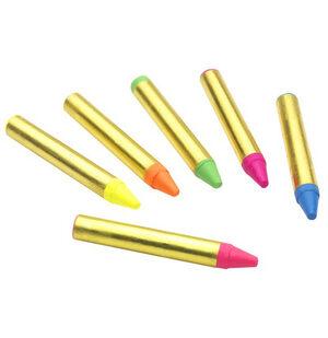 Six Color Neon Face Paint