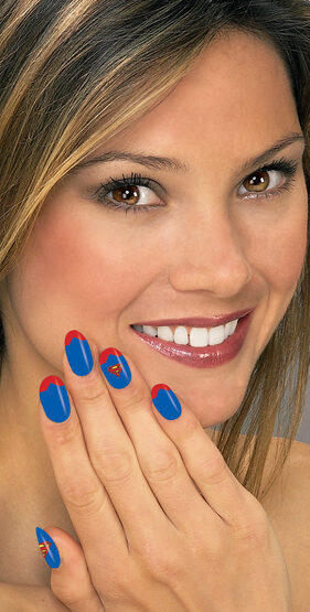 Supergirl Nail Art Strips
