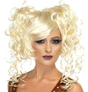 Steampunk Blonde Pigtail Wig