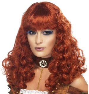 Steampunk Auburn Red Wig