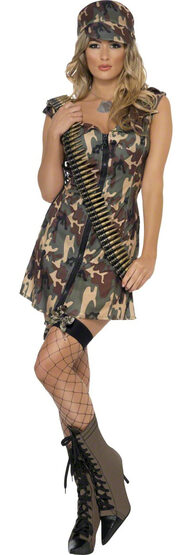 Sexy Camoflauge Army Girl Costume