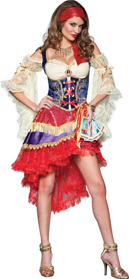 Sexy Good Fortune Gypsy Costume