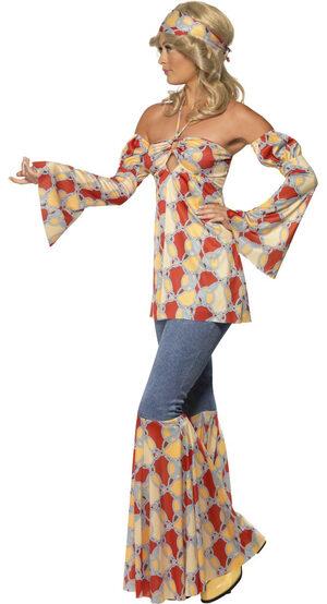 Vintage 70s Hippie Adult Costume